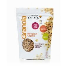 Céréales biologiques granola - Canneberges Amandes - 0,330 Kg