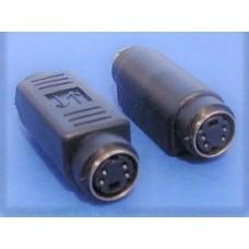 S-VHS super video coupler adapter F-F female-female joiner gender changer 4 pins Mini Dim