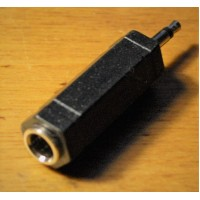 """Audio adapter 6,3 mm (1/4 inch) Female to  3,5 mm (1/8"""") Male  stereo jack to mini plug"""