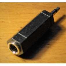 "Audio adapter 6,3 mm (1/4 inch) Female to  3,5 mm (1/8 "") Male  stereo jack to mini plug"