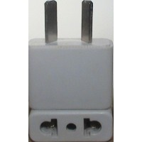 Australia prong socket adapter white plug