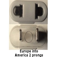 America prong socket travel adapter plug grey