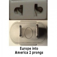 America prong socket adapter plug beige - FREE DELIVERY