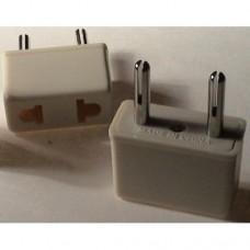 Adaptateur de fiche de prise de courant Europe blanc - LIVRAISON GRATUITE