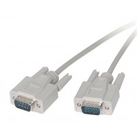 SVGA, monitor video cable extension or switch box, HD BB 15 male to male 6ft feet 6' molded beige 15 pins