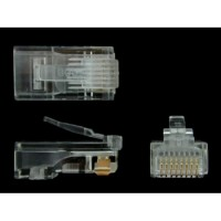Network cable connector RJ45 modular