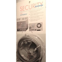 Security anti-theft kit cable lock dual loop, with 2 keys, 2M (7,5') cable, silver for computer, small appliances, etc.