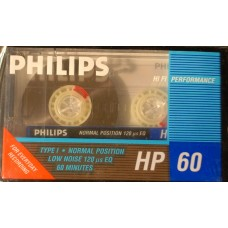 Audio normal cassette PHILLIPS HP 60 minutes