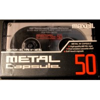 Audio metal cassette MAXELL CAPSULE 50 MIN - FREE SHIPPING