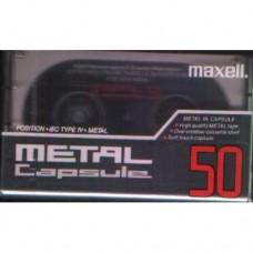 Cassette audio métal Maxell, capsule, 50 minutes - LIVRAISON GRATUITE