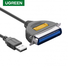 Bi-directional parallel printer cable fast IEEE 1284 DB25M-CN36M Centronic converter to USB 6' feet cord