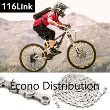 116 Links Stainless Steel coating Chain Bicycle Cycling Chain for 6, 7 and 8 speeds bike