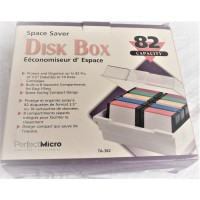 Vintage 3.5 inch 82 floppy diskettes storage case. Box only. For 3 1/2 (3,5) disk tray holder.)