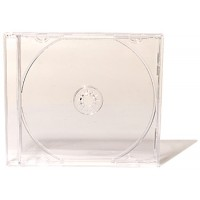 Transparent slim jewel CD and DVD case box, 5,2 mm with transparent tray disc storage slimline spine covers