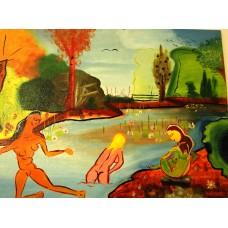 """Les baigneuses-4"", Yves Marineau - FREE SHIPPING"