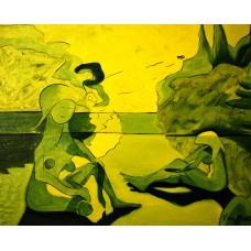 """Les baigneuses-12"", Yves Marineau - FREE SHIPPING"