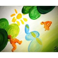 """""""Les baigneuses-6"""", Yves Marineau - LIVRAISON GRATUITE"""