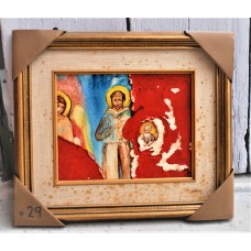 """Painting from Yves Marineau, """"Madone aux anges avec St-François d'après Cimabue"""" - FREE SHIPPING"""