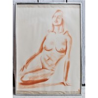 """Drawing from Yves Marineau, """"Nu - 29 """" - FREE SHIPPING"""