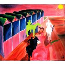 """""""les quatre cavaliers"""", Yves Marineau - LIVRAISON GRATUITE"""