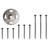 "KERDI-BOARD-ZT TAB washer galvanised steel 1-1/4"" with screws 1-5/8"" for Tile panel, shower Board backer"