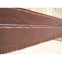Foundation drainage board membrane 1,52 meters x 30 cm (5 feet x 65,6 feet) (full roll) Delta-MS (HDPE)