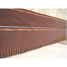 Foundation drainage board membrane 2 meters x 30 cm (6 feet 6,7 inches x 1 feet) (sold by the liner feet) Delta-MS (HDPE)