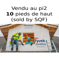 Tyvek Dupont HomeWrap membrane 10 feet large air barrier - SOLD BY FEET LENGHT