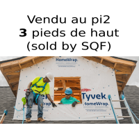 Tyvek Dupont HomeWrap membrane 3 feet large air barrier - SOLD BY THE FEET