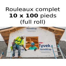 Tyvek Dupont HomeWrap membrane 10 feet X 100 feet air barrier