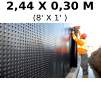 Foundation and floor drainage board membrane 2,44 meters high (8 feet hight) (sold by linear feet) Platon (HDPE)