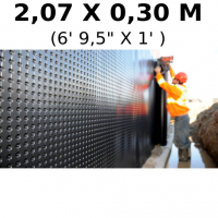 "Foundation and floor drainage board membrane 2,07 meters x 30 centimeters (6' 9,5"" x 1 feet) (sold by linear feet) Platon (HDPE)"