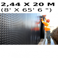 Foundation and floor drainage board membrane 2,44 meters x 20 meters (8 feet x 65,6 feet) (full roll) Platon (HDPE)