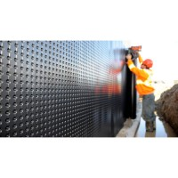 Foundation and floor drainage board membrane 3,05 meters (10 feet ) high (sold by square feet) (HDPE)