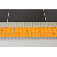 Floor heating waterproof membrane 1 m x 10 meters  (39 inches x 33 feet = 108 ft2) PP Schluter®-DITRA-HEAT-DUO