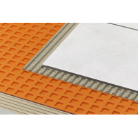 Uncoupling waterproof membrane  1 m x 5 meters  (39 inches x 16,5 feet = 54 ft2) PE Schluter®-DITRA