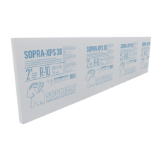 "30 PSI. 4"" x 2 x 8'. Thermal insulation board Soprema SOPRA-XPS 30"