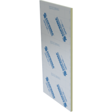 Polyisocyanurate insulation panel 4 x 8 feet x 1 inch between 2 aluminium sheets  Soprema SOPRA-ISO V ALU